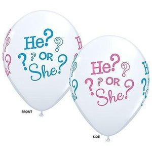He Or She? Latex Balloon 11""