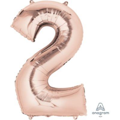 #2 Super Rose Gold Mylar Balloon 32