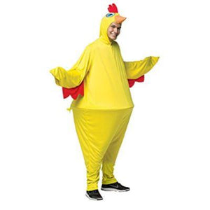 Yellow Hoopster Chicken Adult Costume