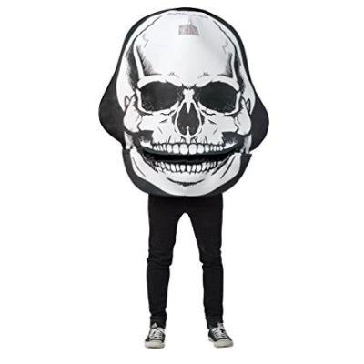 Moving Mouth Skull Adult Costume