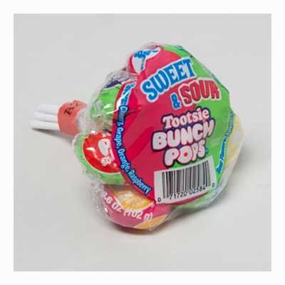 Tootsie Bunch Pops Sweet & Sour - 8 Pack