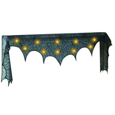 Lace Spider Mantle Scarf With LED