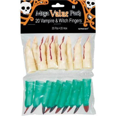 Finger Witch & Vampire Pack of 20
