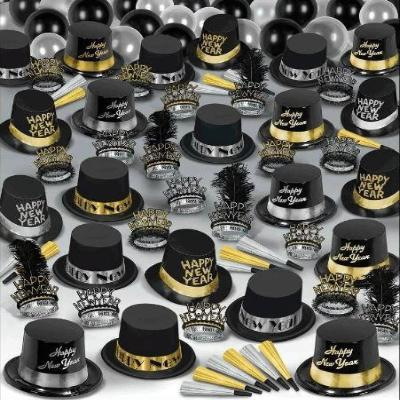 New Year's Super Deluxe Park Kit For 100 - Black,  Silver & Gold