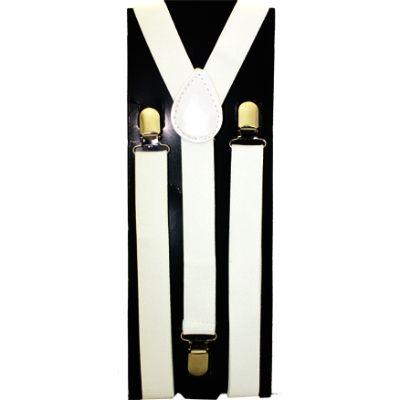 Kid Suspenders White