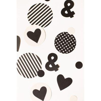 Black & White Confetti Pk100