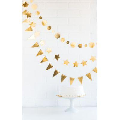 Party Banner Mini Gold