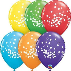 "Confetti Dots Multi Colors Latex Balloons 11"" - 50 Pack"