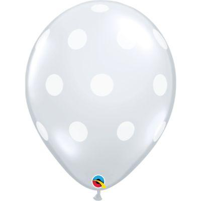 Clear Polka Dot Latex Balloons 16