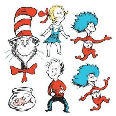 Dr. Seuss Cat In The Hat Cutout - 6 Pack