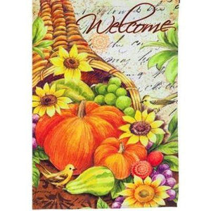 Welcome Cornucopia Garden Flag