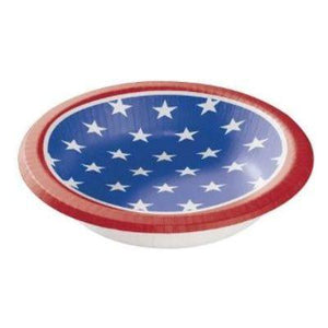 Stars And Stripes Paper Bowls 20 oz. - 8 Pack