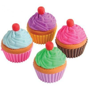 Cupcake Erasers Assorted 12 Pack