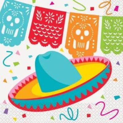 Mexican Fiesta Luncheon Napkin - 16 Pack