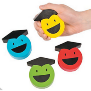 Graduation Smile Face Stress Toy