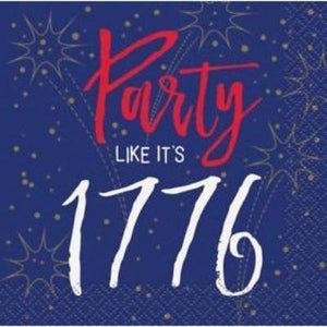 Party 1776 Beverage Napkin - 16 Pack