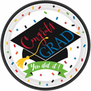 You Did It! Grad Dessert Plate - 60 Pack