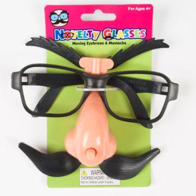 Glasses Novelty Eyebrow Stache