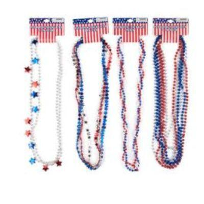 Patriotic Bead Necklace - Assorted