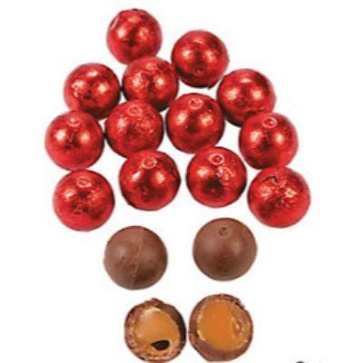 Red Carmel Chocolate Balls 1lb