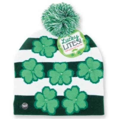 Shamrock Light Up Knit Hat