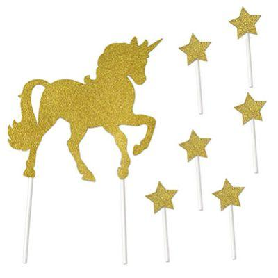 Unicorn Cake Topper - 7 Pack