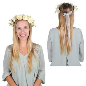 Floral Adult Crown