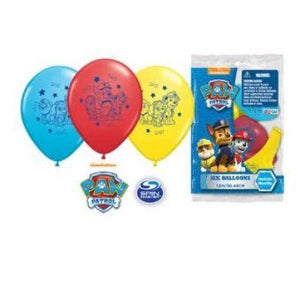 Paw Patrol Latex Baloons - 6 Pack