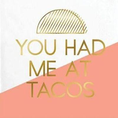 You Had Me At Tacos Beverage Napkin - 20 Pack