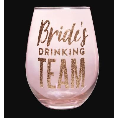 Bride's Drinking Team Wine Glass