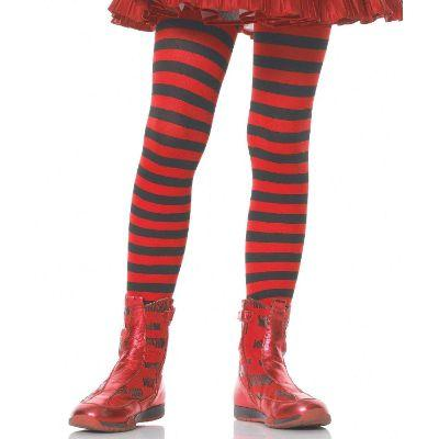 Striped Black & Red Child Tights