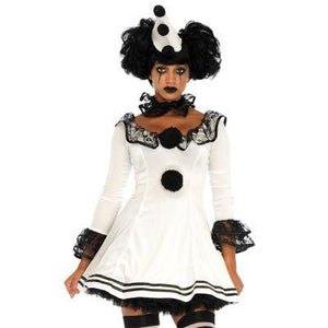 Gloomy Pierrot Clown Adult Costume