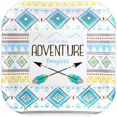 Adventure Blue Dessert Plate - 8 Pack
