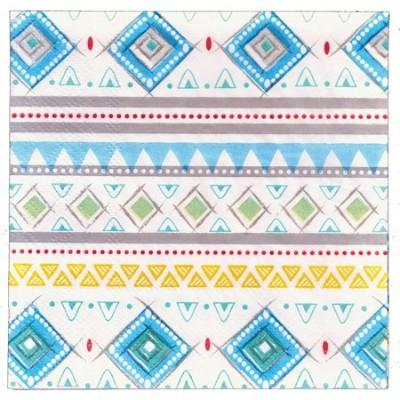 Adventure Blue Beverage Napkin - 16 Pack
