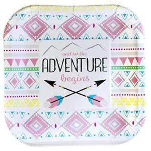Pink Adventure Plate Ds Pk8