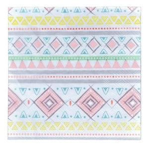 Adventure Pink Beverage Napkin - 16 Pack