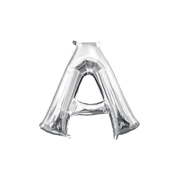 Silver Letter A Mylar Balloon 32