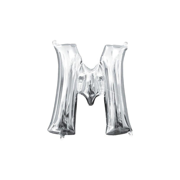 Silver Letter M Mylar Balloon 32
