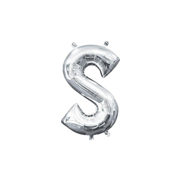 Silver Letter S Mylar Balloon 32