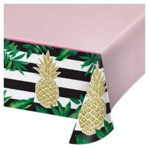 "Pineapple Bridal Shower Plastic Table cover 54"" x 102"""
