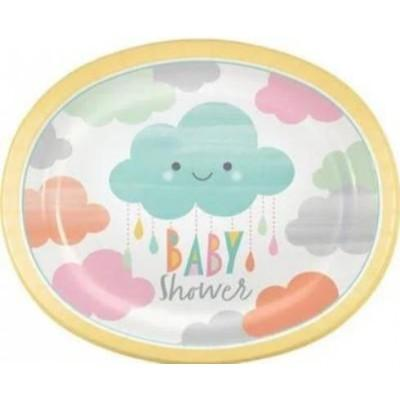 Sunshine Shower Oval Plate 8 Pack