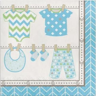 Bundle Of Joy Boy Luncheon Napkins 16 Pack