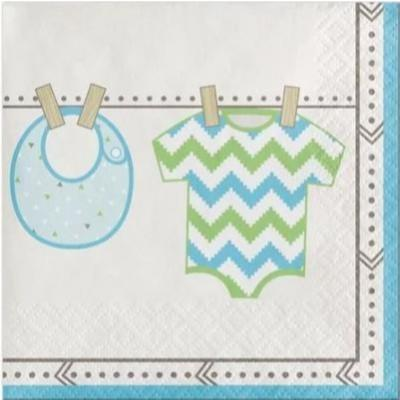 Bundle Of Joy Boy Beverage Napkins 16 Pack