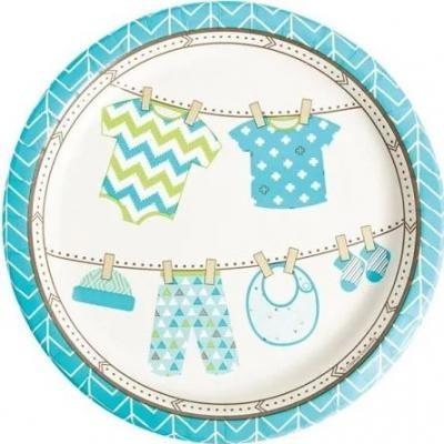 Bundle Of Joy Boy Dinner Plates 8 Pack