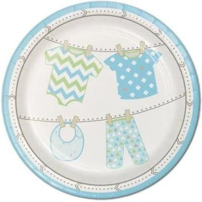 Bundle Of Joy Boy Dessert Plates 8 Pack