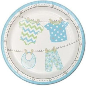 Bundle Of Joy Boy Dessert Plates - 8 Pack