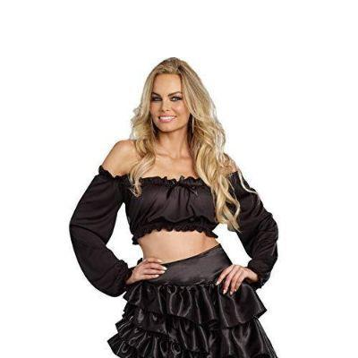 Black Blouse Top Adult