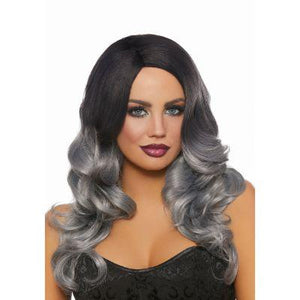 Wavy Ombre Grey & White Hair Extensions