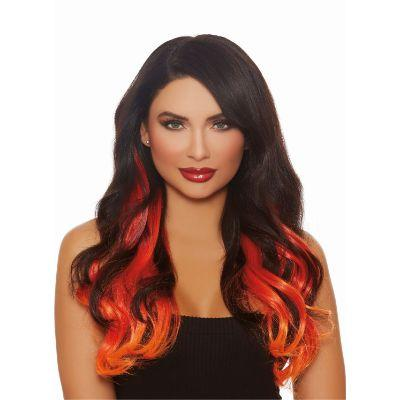 Wavy Red & Orange Hair Extensions