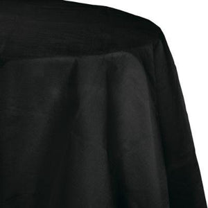 Jet Black Paper Round Tablecover 82""